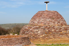 Ancient Buddhist stupas in Sanchi Stock Photo