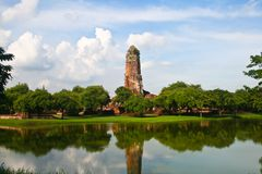 Ancient Buddhist temple in Ayutthaya historical pa Stock Images