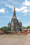 Ancient Buddhist temple in Ayutthaya. Thailand. Royalty Free Stock Image
