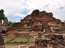 Ancient Buddhist Temple in Ayutthaya Thailand Stock Photography