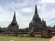 Ancient Buddhist Temple in Ayutthaya Thailand Royalty Free Stock Photography