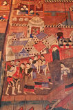 Ancient Buddhist temple mural Stock Image