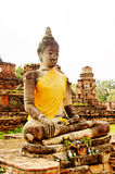 Ancient buddhist temple ruins in Ayuttaya, Thailan Royalty Free Stock Image
