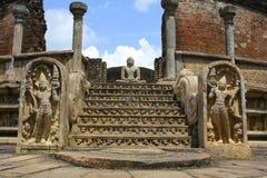 Ancient Buddhist Temple, Sri Lanka Stock Image