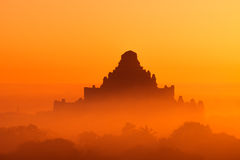 Ancient Buddhist Temples of Bagan Kingdom at sunrise. Myanmar Royalty Free Stock Photo