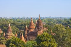 Ancient Buddhist Temples in Bagan royalty free stock image