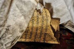 Ancient buddhist texts Stock Photography