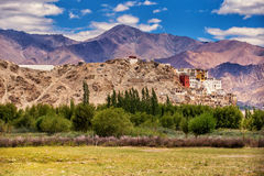 Ancient buddhist Thiksey Monastery, Leh-Ladakh. Jammu and Kashmir, India. Thiksey is one of the Picturesque monasteries of Ladakh Royalty Free Stock Image