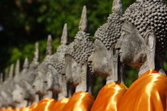 Ancient Budha statues Royalty Free Stock Photography