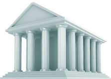 Ancient building. Ancient Financial building isolated on white Royalty Free Stock Images