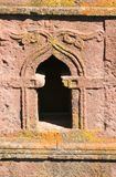 Ancient Building. A window in an ancient church in Lalibela in Ethiopia Royalty Free Stock Photo