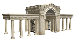 Ancient Building. A 3D rendered building in the Greco-Roman style Royalty Free Stock Images