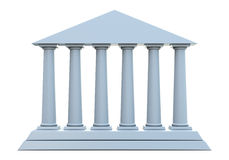Ancient building with 6 columns Royalty Free Stock Images