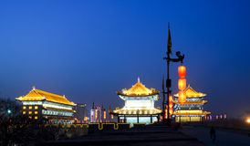 The ancient building. The ancientbuilding in xian of china Royalty Free Stock Images