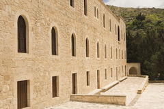 Ancient building with arcs in Cyprus Royalty Free Stock Images