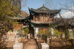 Ancient building at Black Dragon Pool in China. Royalty Free Stock Photography