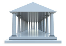 Ancient building with columns and roof Royalty Free Stock Photos