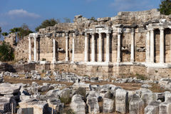 Ancient building columns at Turkey Side Stock Photo