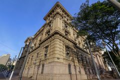 Ancient building of Court of Justice of the Sao Paulo state. Ancient building Palace of Justice, headquarter of the Court of Justice of the Sao Paulo state stock photography