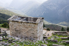 Ancient Building in Delphi Royalty Free Stock Photography