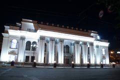 Theatre of Drama. The ancient building of the Drama Theater in the center of Voronezh. Russia Royalty Free Stock Photography