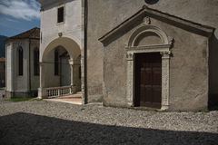 Ancient  Building in Feltre, Veneto, Italy Stock Photography
