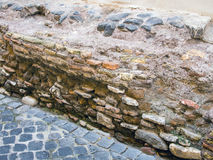 Ancient Building Foundations, Rome Royalty Free Stock Image