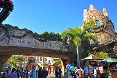 Ancient Building in Universal Orlando, FL, USA. Ancient Building in Islands of Adventure in Universal Studios Florida, Orlando, Florida, USA royalty free stock photography