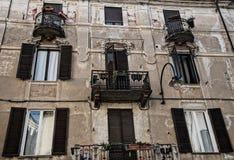 Ancient Building - Ivrea. Ancient Building and windows- Ivrea Royalty Free Stock Image