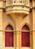 Ancient building in Mdina - Malta. Detail from a historic building in Mdina Royalty Free Stock Photography