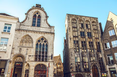 Ancient building of medieval Brugge, Belgium Royalty Free Stock Photos