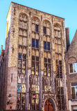 Ancient building of medieval Brugge, Belgium Stock Image