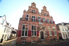 Ancient building named Swaensteyn from 1512 which is in Voorburg the Netherlands and used for meeting of the City Council.