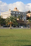 Ancient building & Palms Foro Italico. Palermo Royalty Free Stock Image