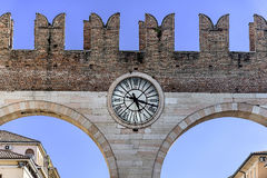 Ancient building part in Verona Italy Stock Image