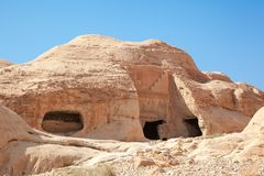 Ancient building in Petra Royalty Free Stock Photos