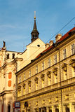 The ancient building in Prague. Against the blue sky, the Czech Republic Royalty Free Stock Photography