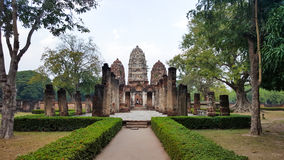 Ancient building in Sukhothai. Thailand royalty free stock images