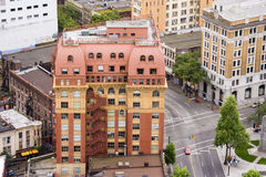 Ancient building in vancouver. View from the top Royalty Free Stock Photos