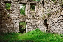 Ancient building in vegetation Royalty Free Stock Image