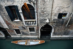 Ancient building in venice along the canal Royalty Free Stock Image