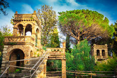 Ancient building in Vila Comunale, Taormina Royalty Free Stock Photography