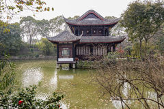 Ancient building in water,Chengdu Royalty Free Stock Photos