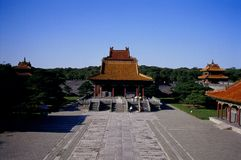 Ancient Building7. An emperor's tomb, Chinese Qing Dynasty. Liaoning Province, China Stock Photography
