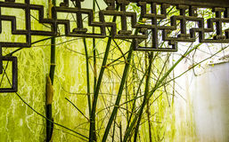 Ancient buildings and bamboo Royalty Free Stock Photo
