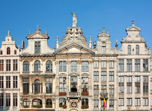 Ancient Buildings In Brussels Grand Place Royalty Free Stock Image
