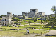Ancient buildings built by the Mayas Royalty Free Stock Images