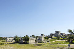 Ancient buildings built by the Mayas Royalty Free Stock Photos