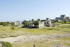 Ancient buildings built by the Mayas Stock Photography