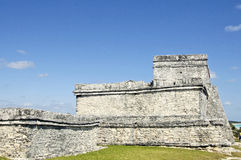 Ancient buildings built by the Mayas Stock Photo